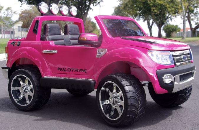 ford ranger rose voiture électrique