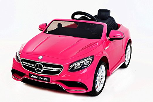 voiture électrique enfant rose mercedes